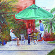 St. Armand's Circle Cafe Scene Poster