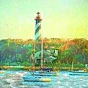 St Augustine Lighthouse Waterscaped Poster