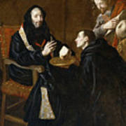 St Benedict Blesses The Bread Poster