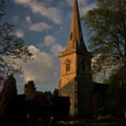 St Davids Church At Sundown Poster