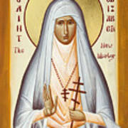 St Elizabeth The New Martyr Poster by Julia Bridget Hayes