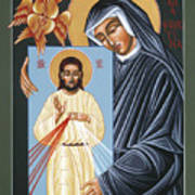 St Faustina Kowalska Apostle Of Divine Mercy 094 Poster