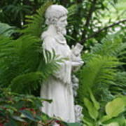 St. Francis In The Garden Poster