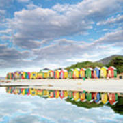 St James Beach Huts South Africa Poster