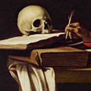 St. Jerome Writing Poster