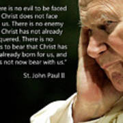 St. John Paul II Quotes Poster