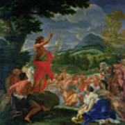 St John The Baptist Preaching Poster