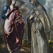 St. John The Evangelist And St. Francis Of Assisi Poster