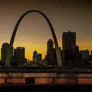 St Louis Arch At Sunset Poster