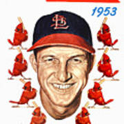 St. Louis Cardinals 1953 Yearbook Poster