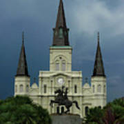 St Louis Cathedral In Jackson Square Poster