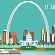 St. Louis Missouri Horizontal Skyline Poster