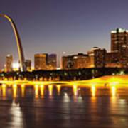St Louis Skyline Poster by Bryan Mullennix