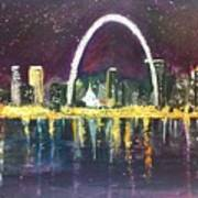 St. Louis Skyline Poster by Made by Marley