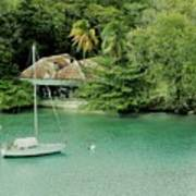 St. Lucia Mooring Poster