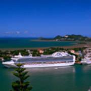 St. Lucia Port Poster