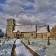 St Margarets Church Ridge Hertfordshire Poster