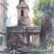 St Martins In The Field Adjacent Trafalgar Square London Poster