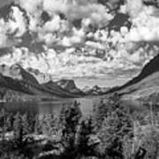 St Mary Lake Glacier National Park Panoramic Poster