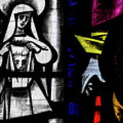 St Mary Redcliffe Stained Glass Close Up C Poster