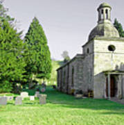 St Mary's Church At Mapleton Poster