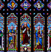 St. Michael's Parish Stained Glass Poster