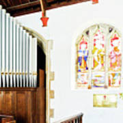 St Mylor Organ Pipes Poster