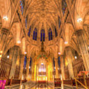 St Patrick's Cathedral Manhattan New York Poster