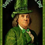 St Patrick's Day Ben Franklin Poster