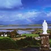 St Patricks Statue, Co Mayo, Ireland Poster