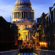 St. Paul's Cathedral From Millennium Bridge Poster