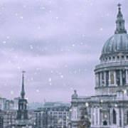 St Pauls Snow Poster