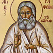St Seraphim Of Sarov Poster by Julia Bridget Hayes