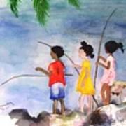 St Simons Fishermen Poster