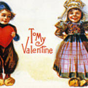 St. Valentines Day Card Poster