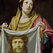 St. Veronica Holding The Holy Shroud Poster by Simon Vouet