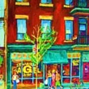 St Viateur Bagel Shop Poster