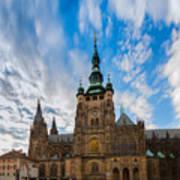 St  Vitus Cathedral In Prague Poster