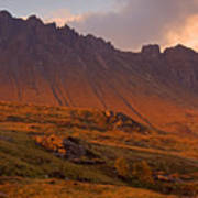 Stac Pollaidh At Sunset Poster