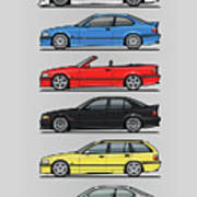 Stack Of E36 Variants Poster