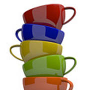 Stacked Cups Poster
