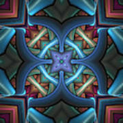 Stacked Kaleidoscope Poster