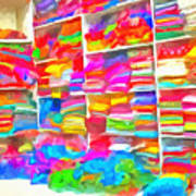 Stacks Of Clothes Ready To Sell Poster