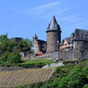 Stahleck Castle In The Rhine Gorge Germany Poster