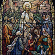 Stained Glass - Palm Sunday Poster