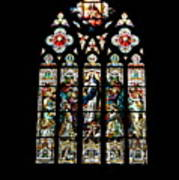 Stained Glass At St. John's Poster
