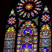Stained Glass Beauty #46 Poster