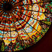 Stained Glass Ceiling Poster