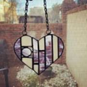 Stained Glass Heart Poster