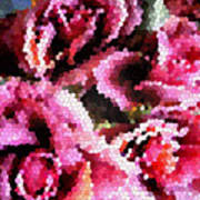 Stained Glass Roses 2 Poster